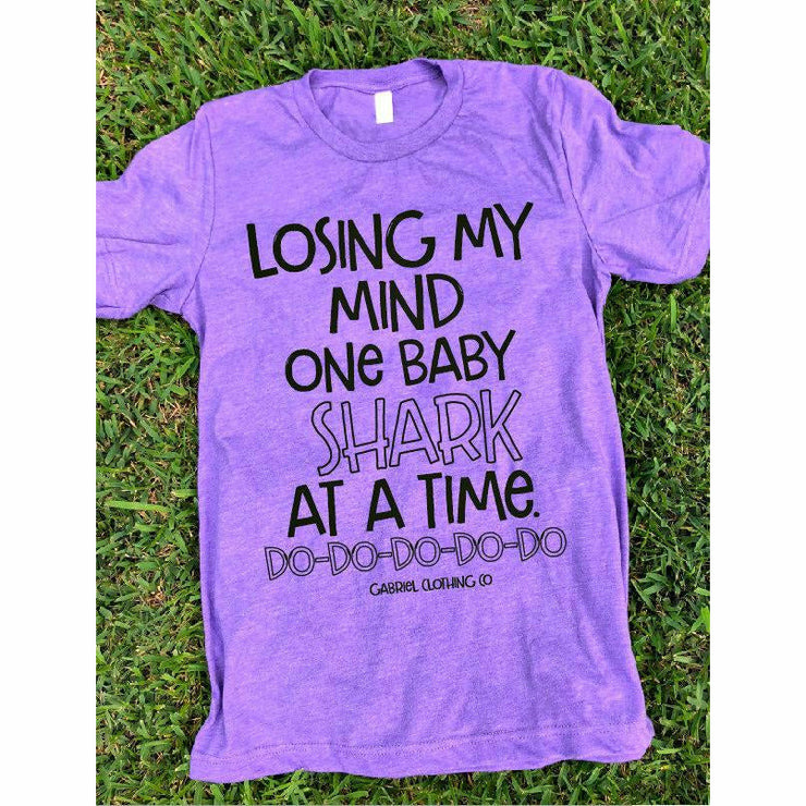 Losing my mind one Baby shark Tee - Gabriel Clothing Company