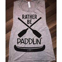 Rather BE Paddlin' Tank (colors) - Gabriel Clothing Company