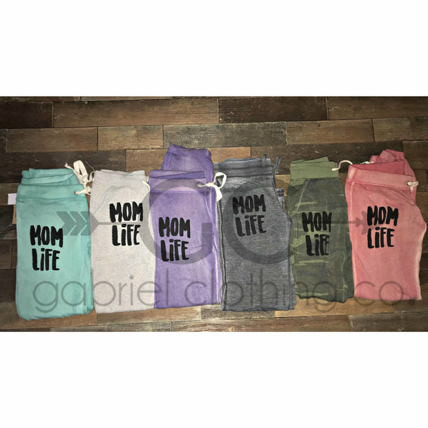 Mom Life Pants (black ink) - Gabriel Clothing Company