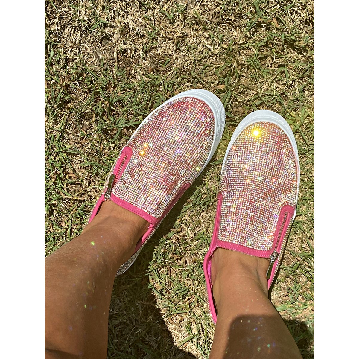 Rhinestone Barbie Pink Sneakers