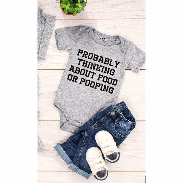 Thinking about food kids/infant tee