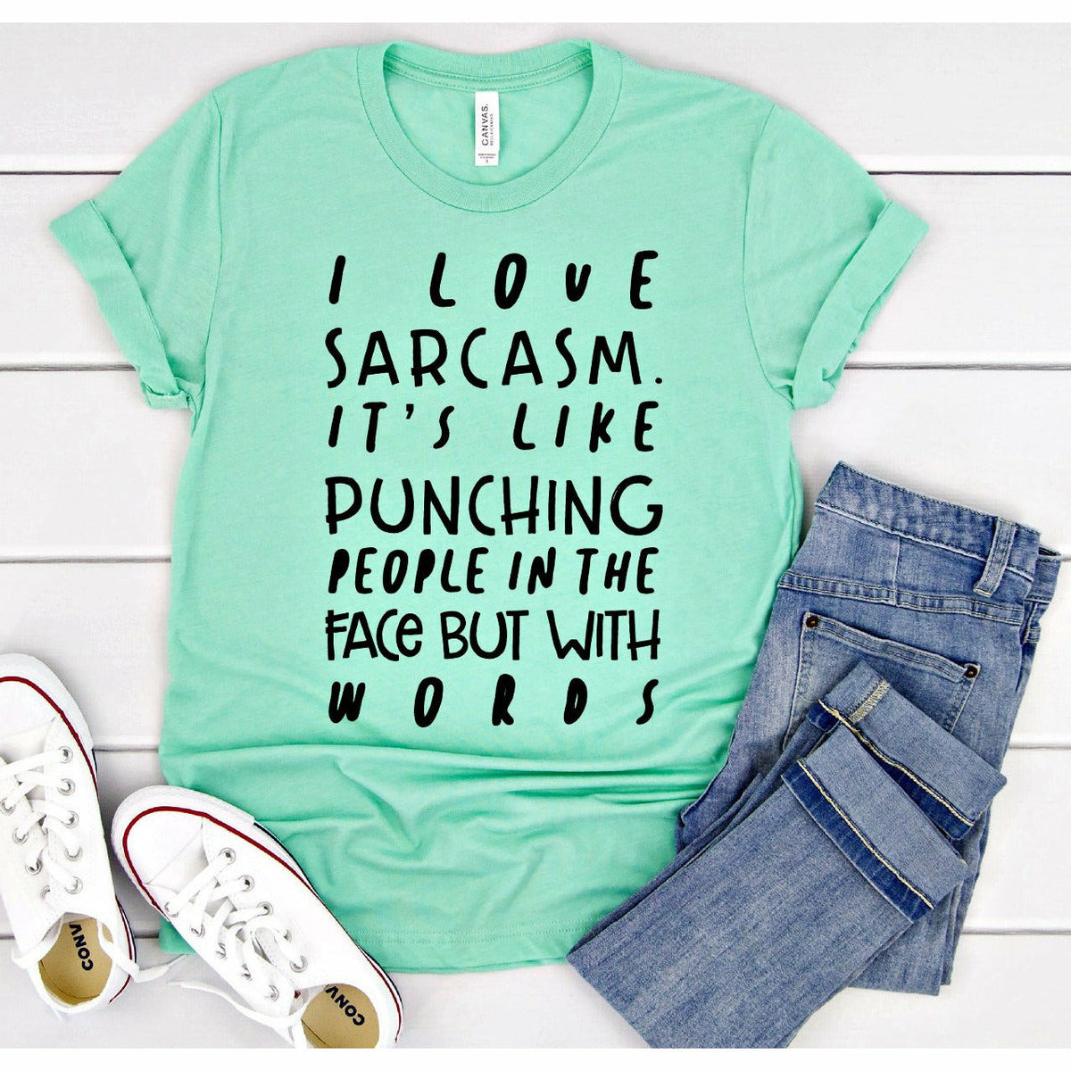 Punch with Sarcasm tee