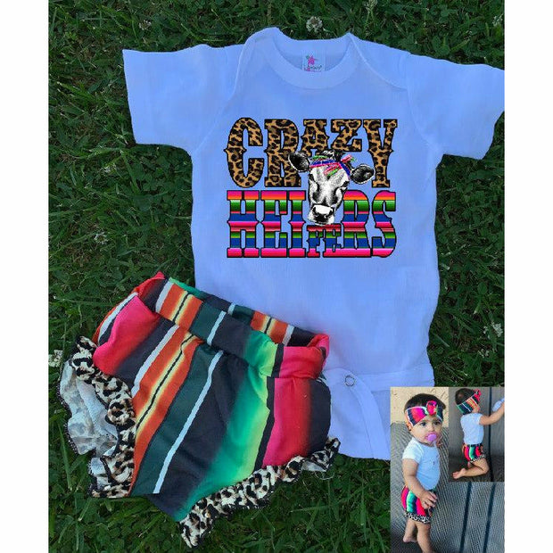 Crazy Heifer Serape Set (3 piece set)