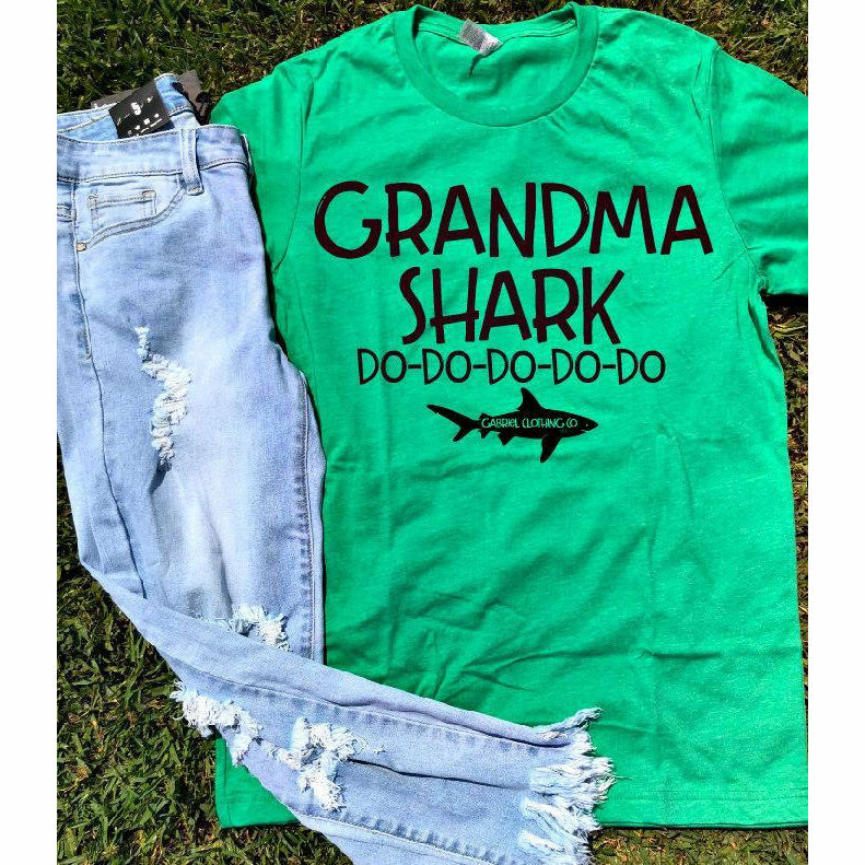 Grandma Shark DO DO DO Tee - Gabriel Clothing Company