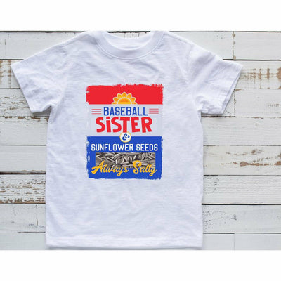 baseball sunflower sister tee