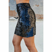 Sequin Back in Black Skirt