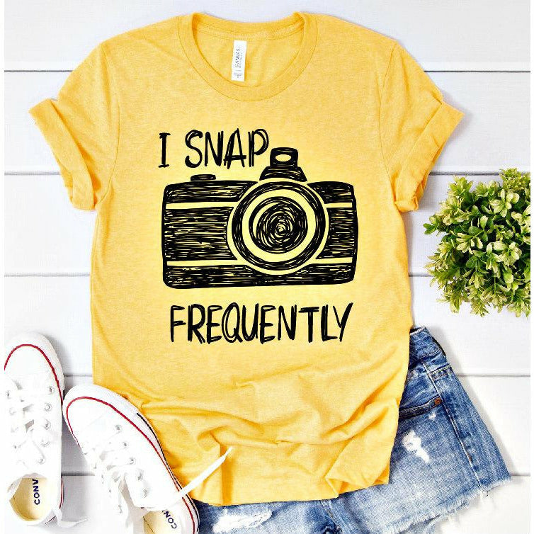 i snap frequently tee