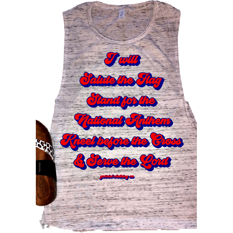 I will Salute the Flag Tank/Tee - Gabriel Clothing Company