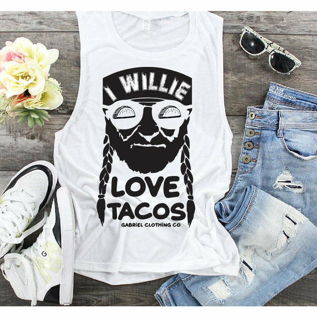 I willie love tacos tank