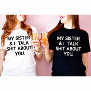 My Sister and I (white ink) tee