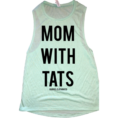 Mom with Tats Tank - Gabriel Clothing Company