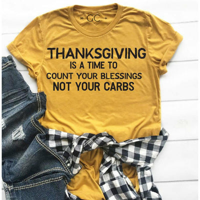 Count your blessings not your carbs tee