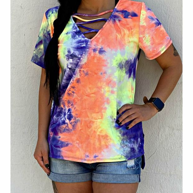Tie dye Criss Cross Purple Mix boutique (limited)