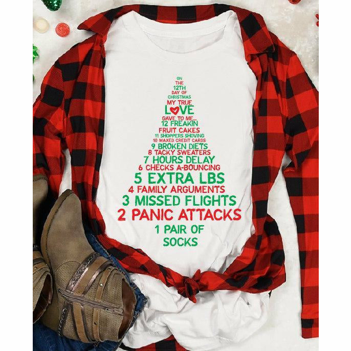 12 Days of Christmas Funny Tee - Gabriel Clothing Company