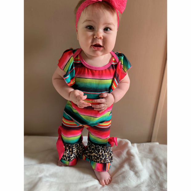 Serape Cheetah infant romper