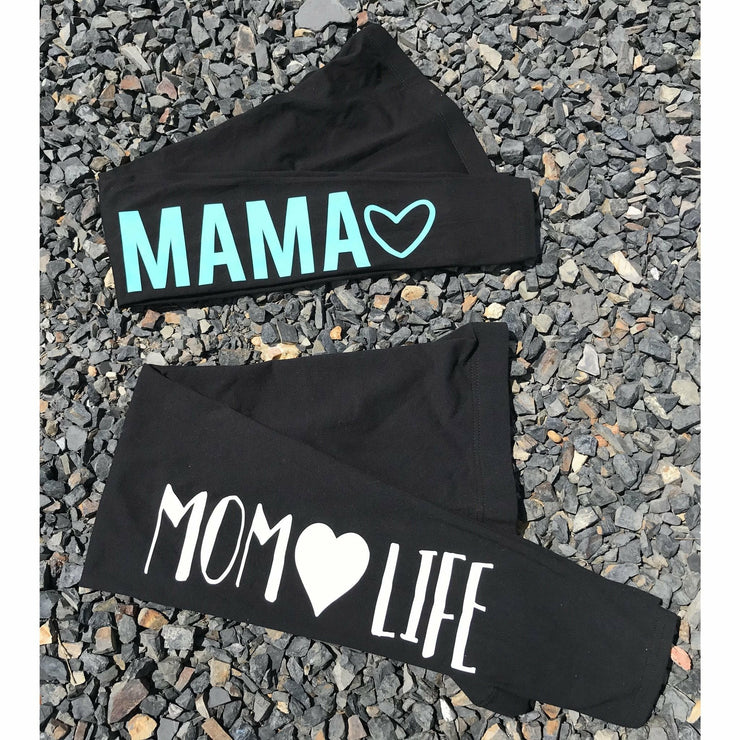 MAMA Leggings (7 colors, not see through) - Gabriel Clothing Company