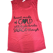 Heart Of Gold Tank top - Gabriel Clothing Company