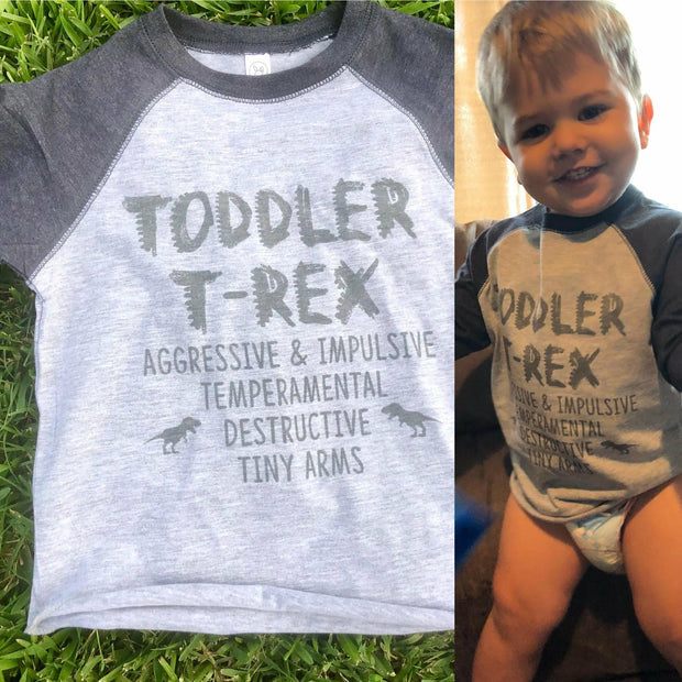 Toddler T-REX Raglan or Tee