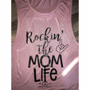 Rockin' the Mom life Tank - Gabriel Clothing Company