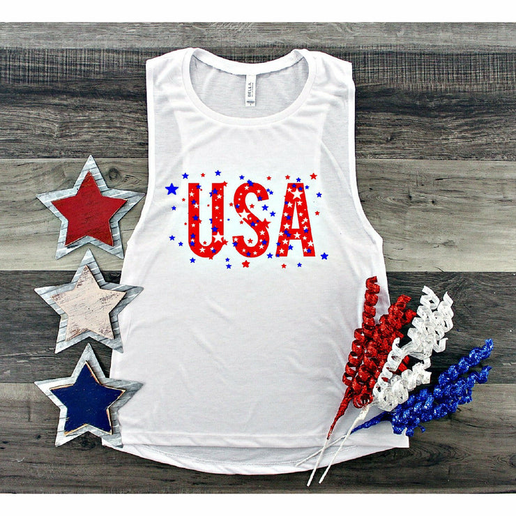 USA Star Tank or Tee