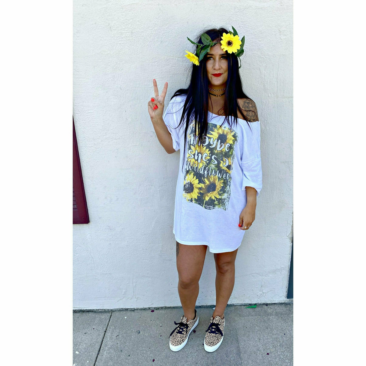 Maybe She's a Wildflower T-Shirt Dress