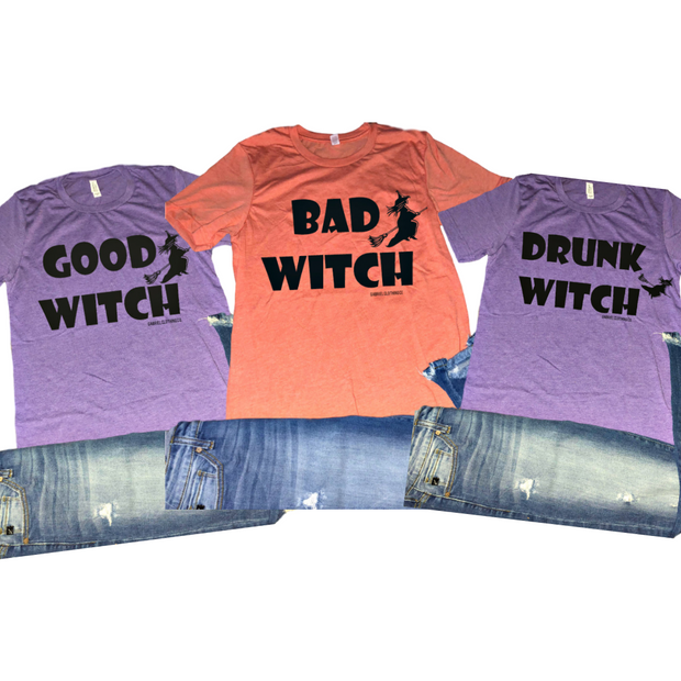 (good,bad,drunk) WITCH TEEs (3 options available)
