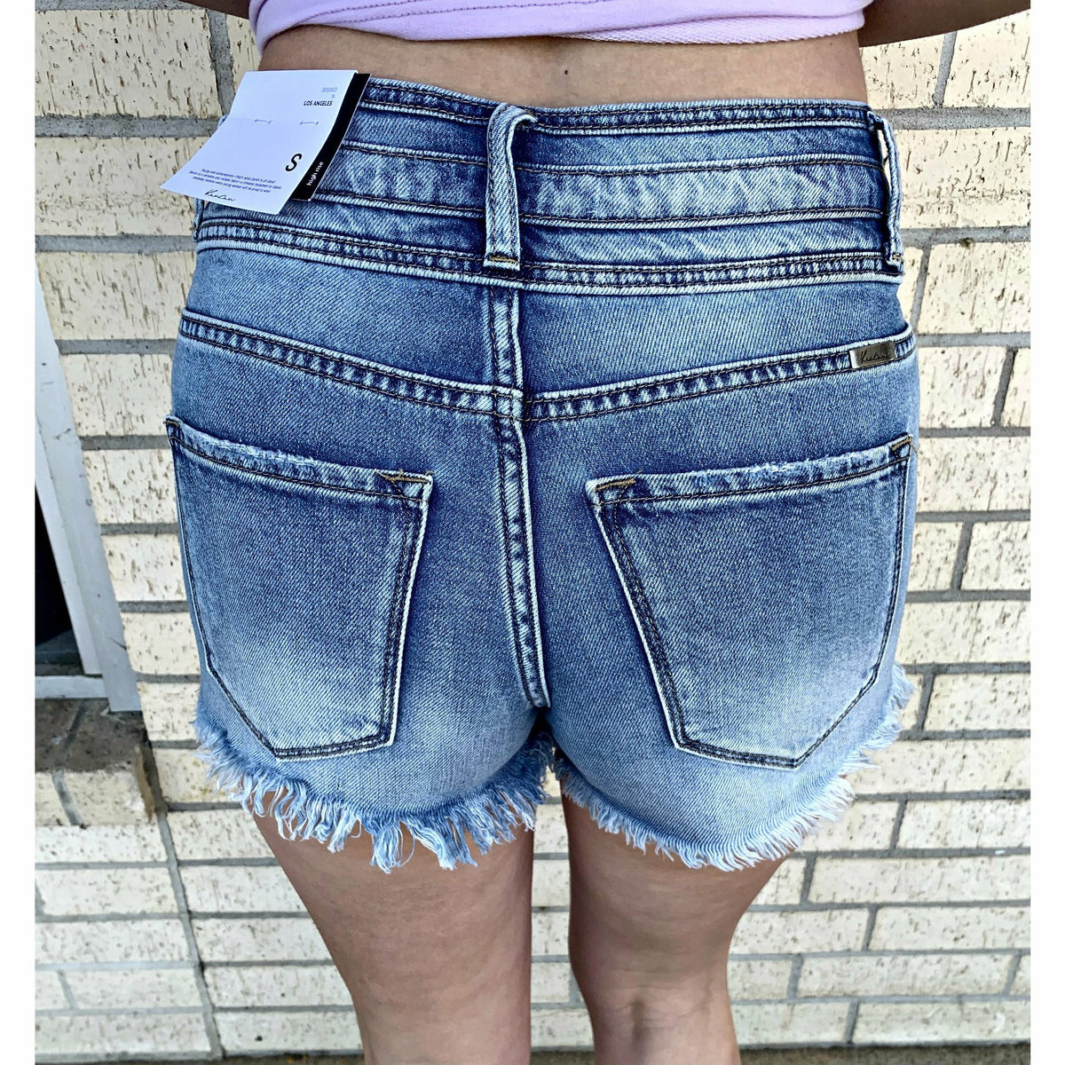Triple Band Kancan Denim Shorts