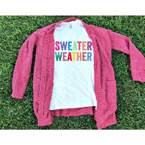 Sweater Weather Tee/long sleeve