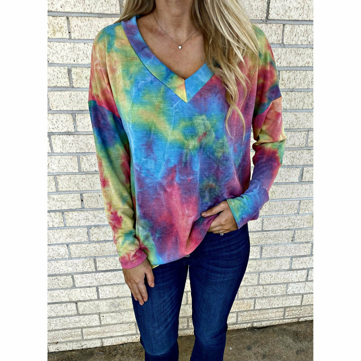 Cheer up Tie Dye top (regular and plus)