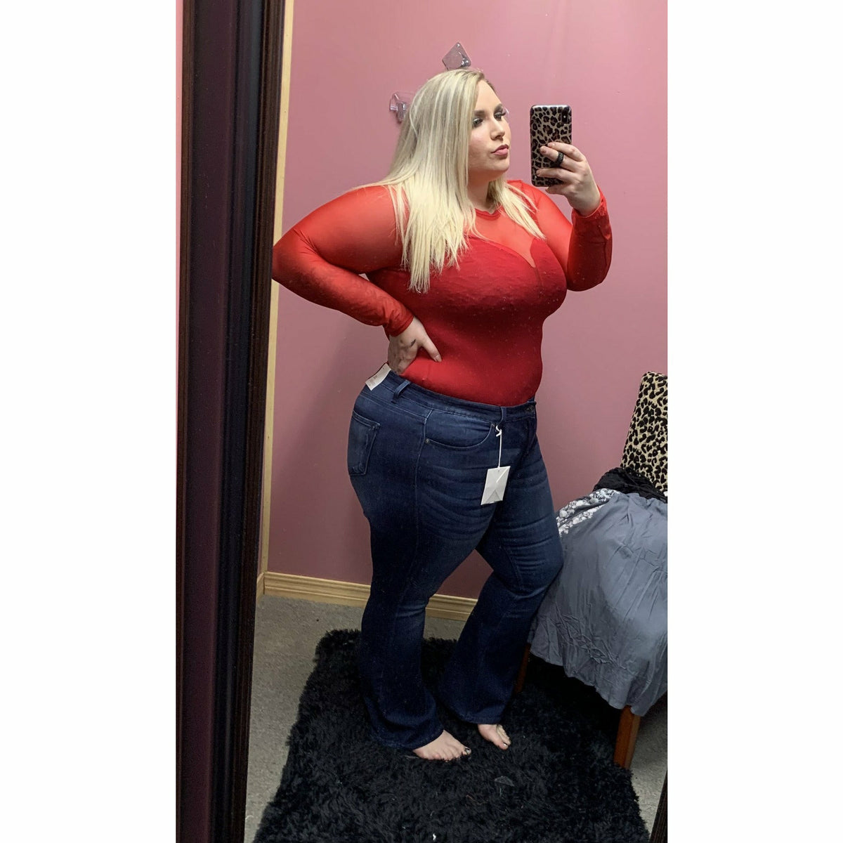 BABE Plus Size Bodysuit (red or black)