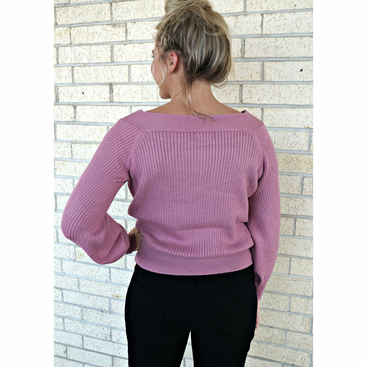 Mauve Boatneck Sweater
