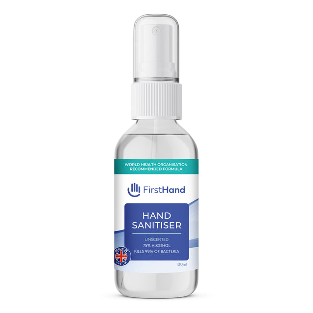 First Hand 75% Alcohol Hand Sanitiser (WHO Formula) 100ml Spray