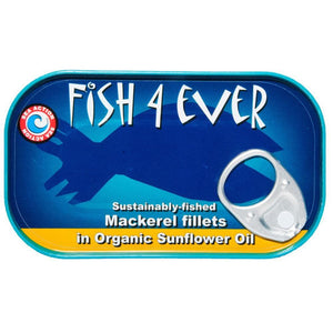 Fish4Ever Mackerel Fillet in Organic Sunflower Oil 120g