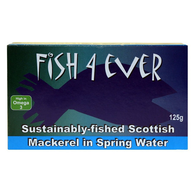 Fish4Ever Mackerel in Spring Water 125g