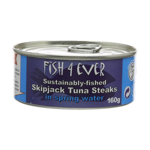 Fish4Ever Skipjack Tuna Steaks in Spring Water 160g