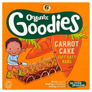 Organix Goodies Carrot Cake Oat Bar 6 x 30g