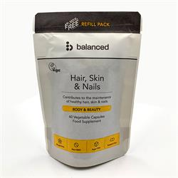 Hair Skin & Nails Refill Pouch 60  Capsule