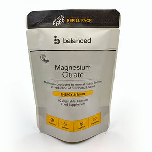 Balanced Magnesium Citrate 60 Veggie Caps - Refill Pouch