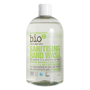 Bio-D Sanitising Lime and Aloe Vera Hand Wash 500ml