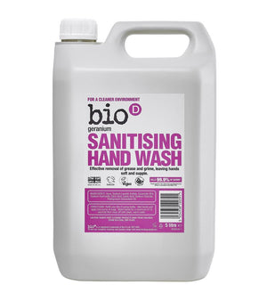 Bio-D Sanitising Hand Wash Geranium 5000ml