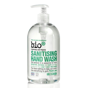 Bio-D Sanitising Rosemary & Thyme Hand Wash 500 ml