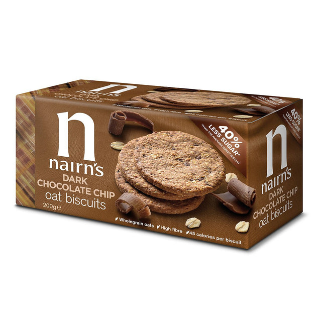 Nairns Dark Chocolate Chip Biscuits, 200g
