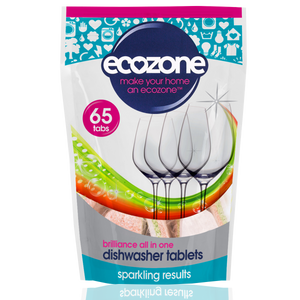 Ecozone Brilliance Dishwasher Tabs 65 tablets