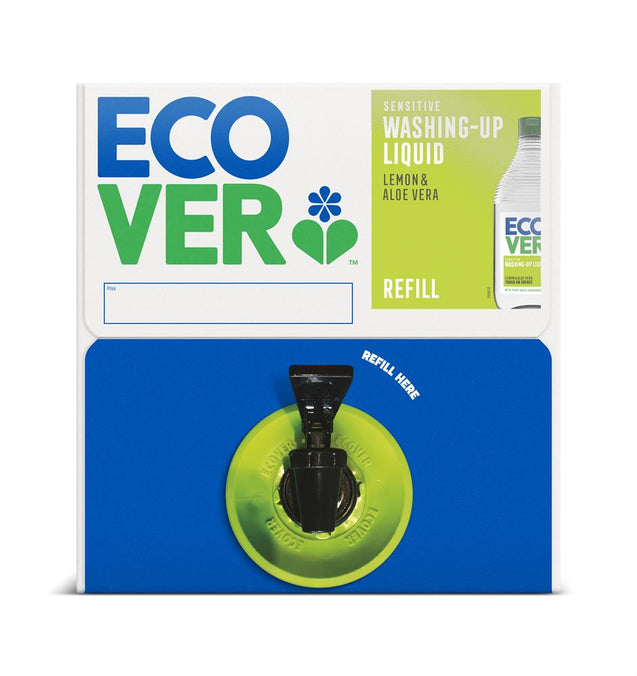 Ecover Washing up Liquid - Lemon & Aloe Vera 15L Refill