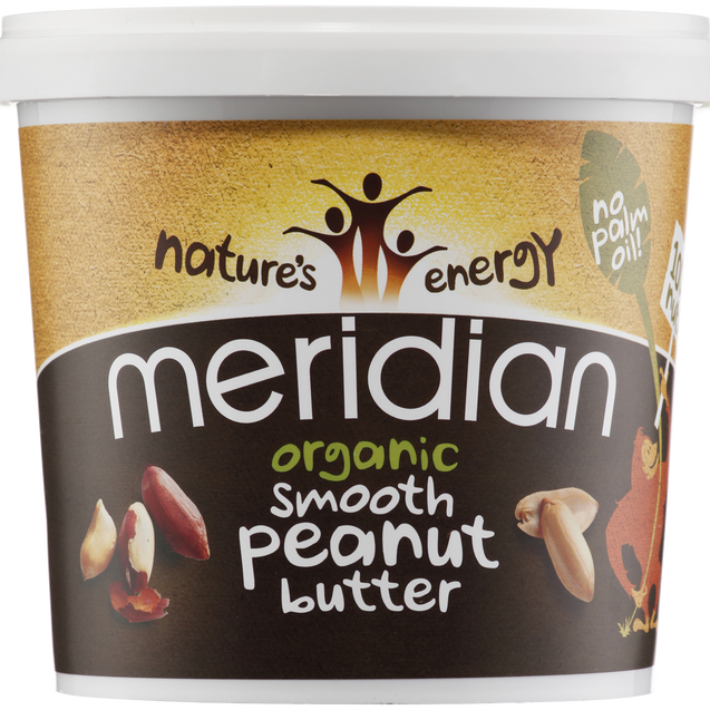 Meridian Organic Peanut Butter Smooth 100% 1kg