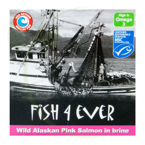 Fish4Ever Wild Alaskan Pink Salmon in Brine 160g