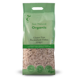 Just Natural Organic Gluten Free Buckwheat Flakes 350g