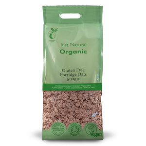 Just Natural Organic Gluten Free Porridge Oats 500g