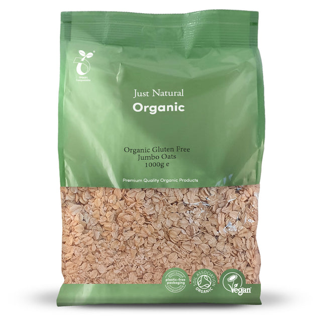 Just Natural Organic Gluten Free Jumbo Oats 1000g