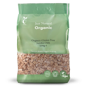 Just Natural Organic Gluten Free Jumbo Oats 500g